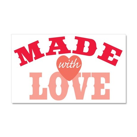Made With Love Car Magnet 20 x 12