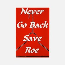 Rectangle Magnet/save roe red