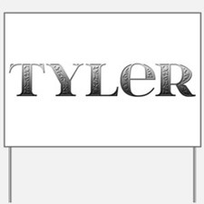 Tyler Carved Metal Yard Sign