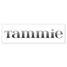 Tammie Carved Metal Bumper Bumper Sticker