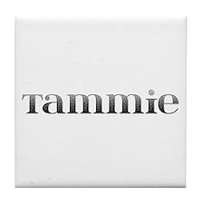 Tammie Carved Metal Tile Coaster