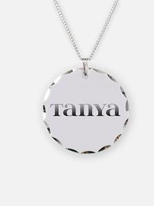 Tanya Carved Metal Necklace