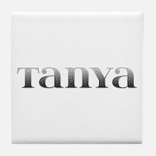 Tanya Carved Metal Tile Coaster