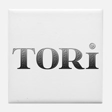 Tori Carved Metal Tile Coaster