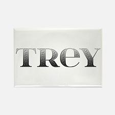 Trey Carved Metal Rectangle Magnet