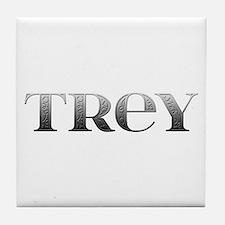 Trey Carved Metal Tile Coaster