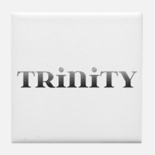 Trinity Carved Metal Tile Coaster