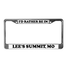 Rather be in Lee's Summit License Plate Frame