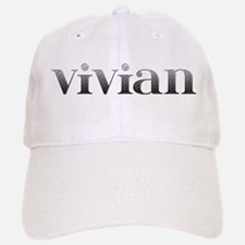 Vivian Carved Metal Baseball Baseball Cap