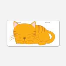 Orange Tabby Aluminum License Plate