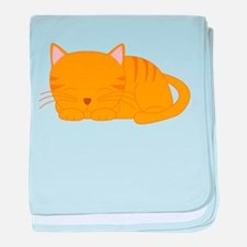 Orange Tabby baby blanket