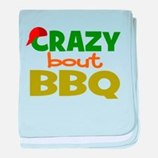 I love BBQ baby blanket