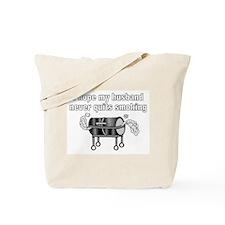 BBQ husband smoking Tote Bag