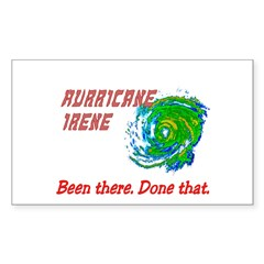 Hurricane Irene Been There Decal