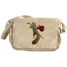 Squirrel Red Guitar Messenger Bag