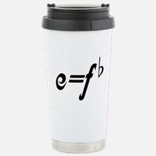 Funny Music E = F flat Stainless Steel Travel Mug