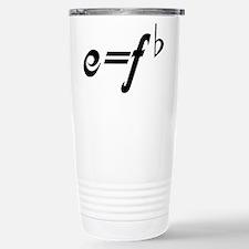 Funny Music E = F flat Travel Mug