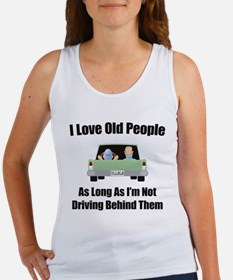 I Love Old People Women's Tank Top