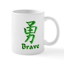 Brave in English/Kanji Green Mug