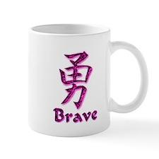 Brave in English/Kanji Pink E Mug
