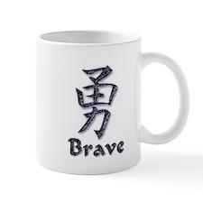 Brave in English and Kanji Mug