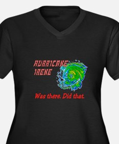 Hurricane Irene Was There Women's Plus Size V-Neck
