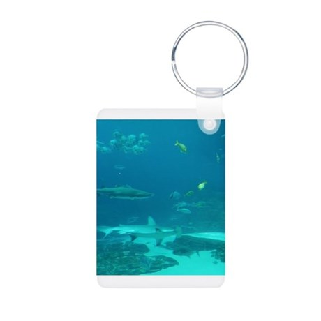 shark world Aluminum Photo Keychain