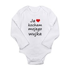 I love MY Uncle (Polish) Long Sleeve Infant Bodysu
