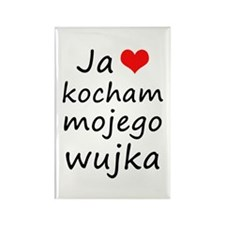 I love MY Uncle (Polish) Rectangle Magnet