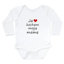I love MY Mom (Polish) Long Sleeve Infant Bodysuit