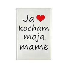 I love MY Mom (Polish) Rectangle Magnet