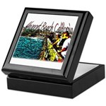 Newport beach pier fishing Keepsake Box