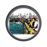 Newport beach pier fishing Wall Clock