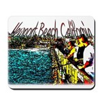 Newport beach pier fishing Mousepad