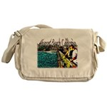 Newport beach pier fishing Messenger Bag