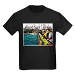Newport beach pier fishing Kids Dark T-Shirt