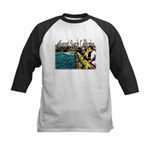 Newport beach pier fishing Kids Baseball Jersey