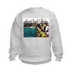 Newport beach pier fishing Kids Sweatshirt