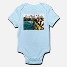 Newport beach pier fishing Infant Bodysuit