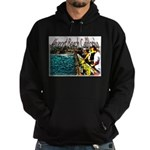 Newport beach pier fishing Hoodie (dark)