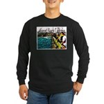 Newport beach pier fishing Long Sleeve Dark T-Shir