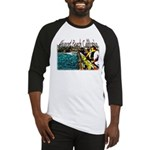 Newport beach pier fishing Baseball Jersey