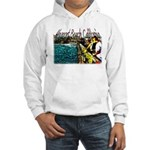 Newport beach pier fishing Hooded Sweatshirt