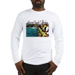 Newport beach pier fishing Long Sleeve T-Shirt