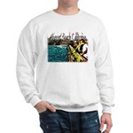 Newport beach pier fishing Sweatshirt