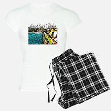 Newport beach pier fishing Pajamas