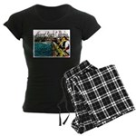 Newport beach pier fishing Women's Dark Pajamas