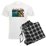 Newport beach pier fishing Men's Light Pajamas
