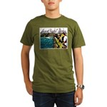 Newport beach pier fishing Organic Men's T-Shirt (