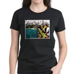 Newport beach pier fishing Women's Dark T-Shirt